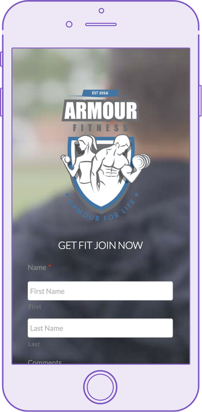 armour fitness webiste by digital peak