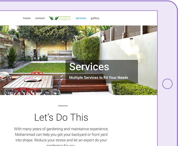 digital peak landing page gardening angel powerful yet simple to use websites