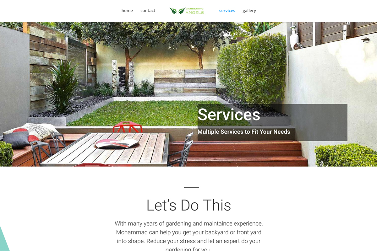 gardening angels website by digital peak