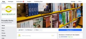 piccadilly bookshop facebook by digital peak social media management
