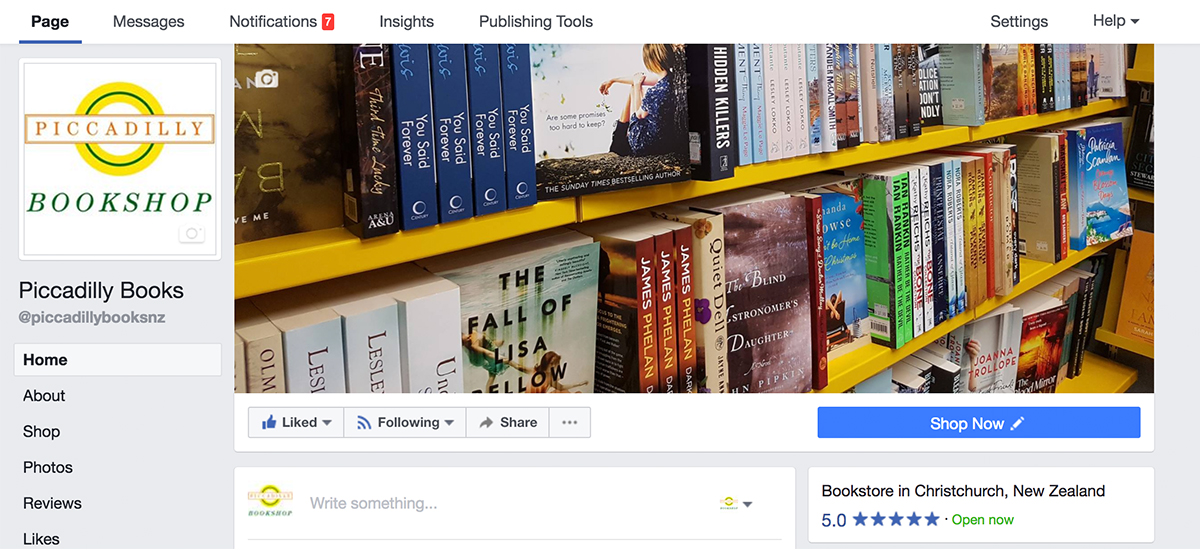 Piccadilly books facebook management